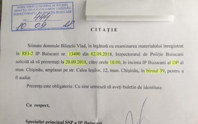 """Liderul """"UNIREA – ODIP"""", Vlad Bilețchi, citat de poliție în legătură cu incidentele de pe 1 septembrie"""