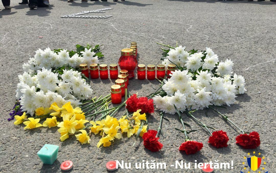 Unioniștii au comemorat victimele protestului din 7 aprilie 2009